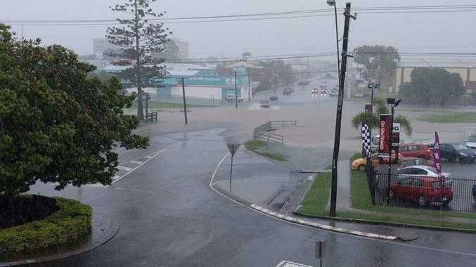 The Melbourne Hotel snapped this photo of water rising on Targo St.