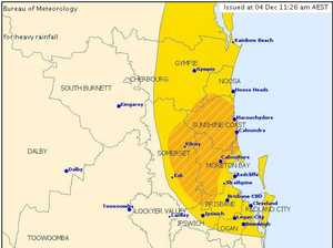 BoM latest on SEQ storm warning
