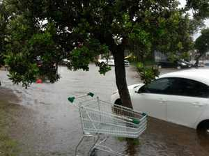 Michael McCord took these photos of the flooded Point Cartwright Dr at Buddina, near Kawana Shoppingworld.