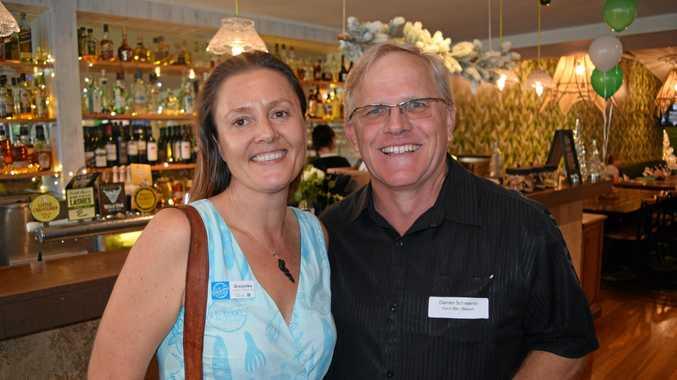 SOCIAL: Grazynka Ziemkiewicz and Darren Schwerin at the Tourism Noosa networking night.