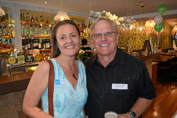 SOCIAL: Grazynka Ziemkiewicz and Darren Schwerin at the Tourism Noosa networking night.
