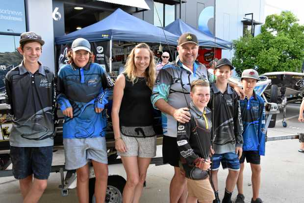 TEAM WORK: Grant Pawson and his Noosa Fish Headz team members.