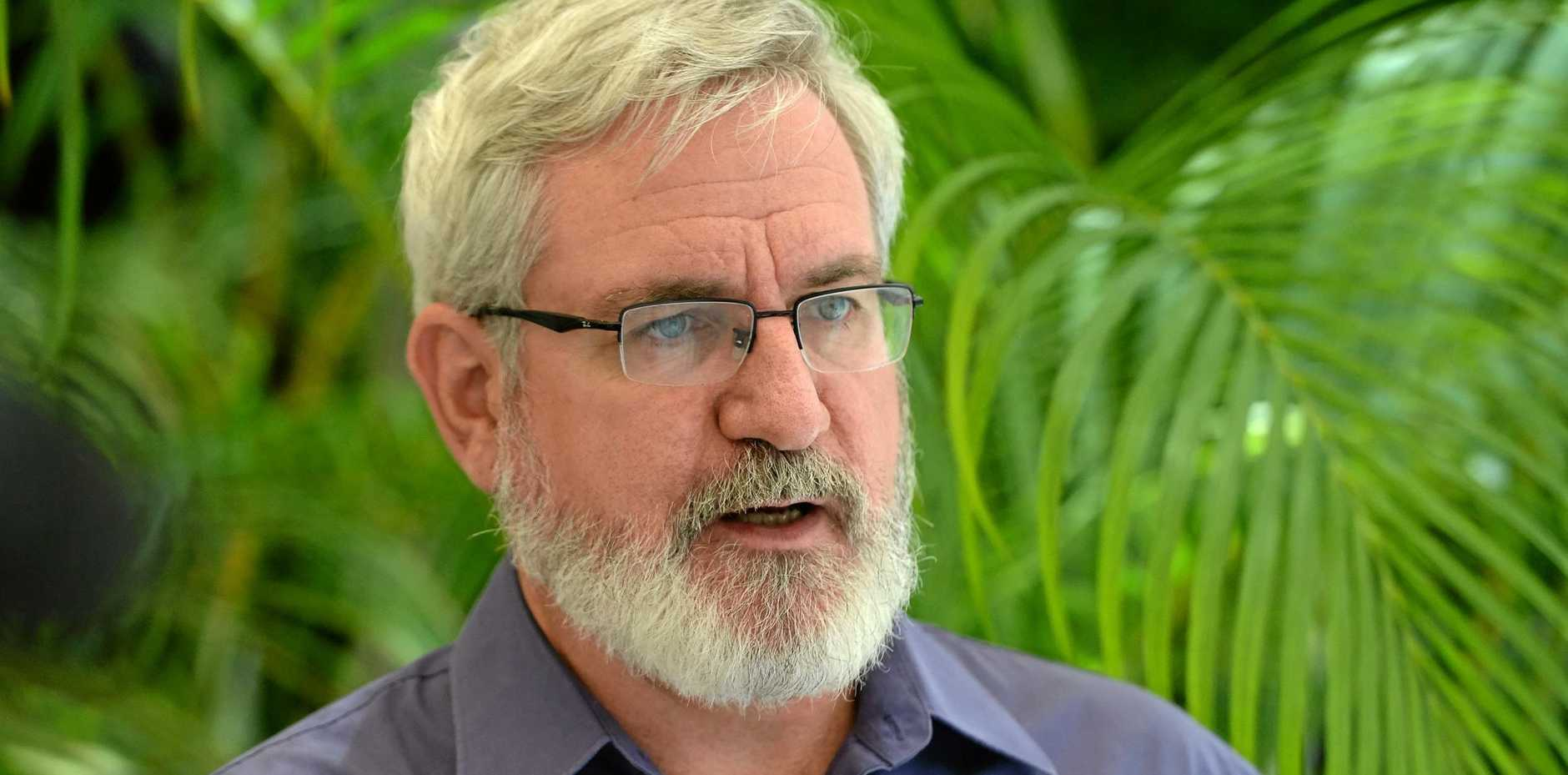 Greens leader Andrew Bartlett in Rockhampton as part of the Political Leaders series organised by Capricorn Enterprise.