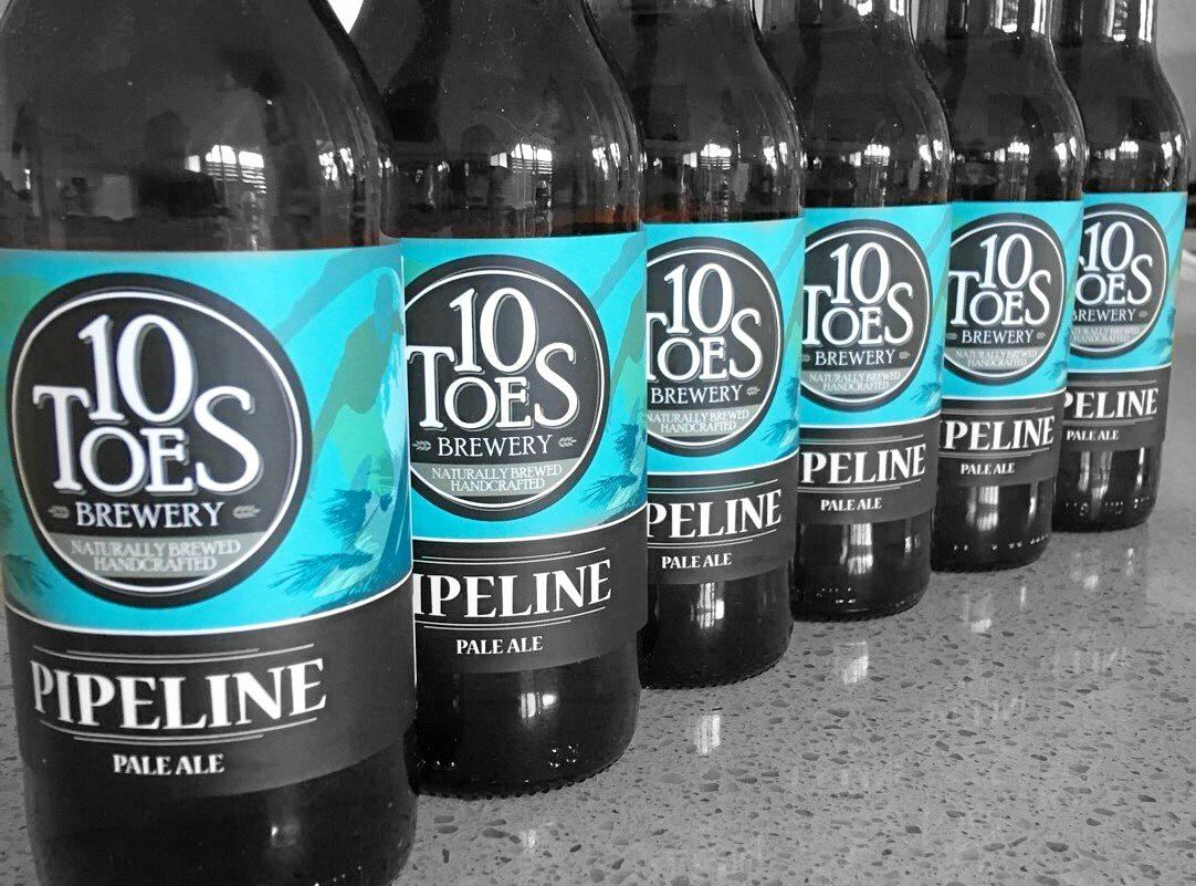 10 Toes Brewery Pipeline Pale Ale.