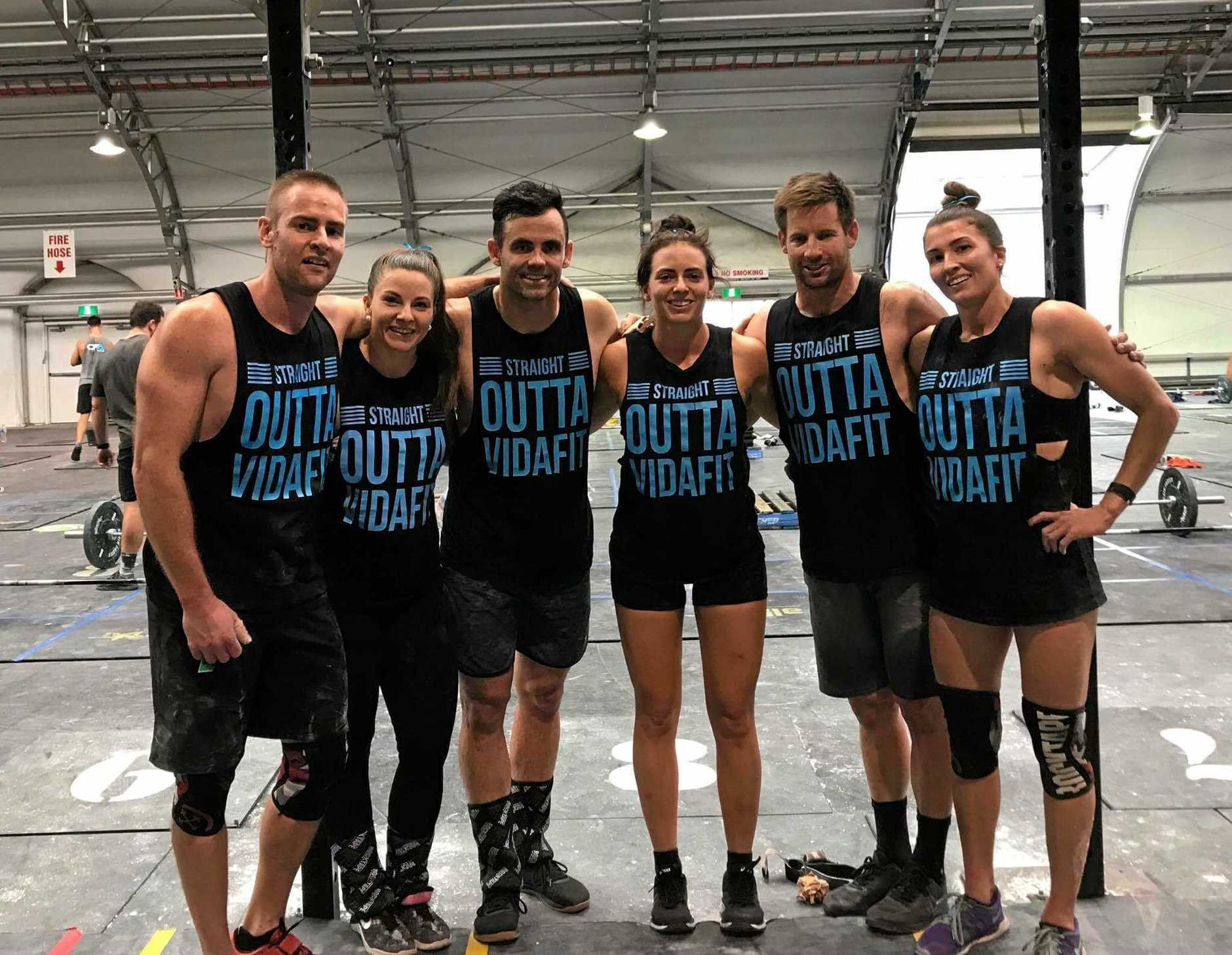 The VidaFit Rockhampton team (from left) Dan Stevens, Megan Hawley, Dan Withers, Madi Minns, Jason Larcombe and Courtney Williams finished sixth at the national finals at the weekend.