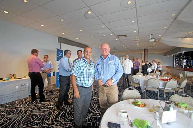 CEO of Wide Bay Hospital & Health Service Adrian Pennington and Fraser Coast Regional Council Counsellor Denis Chapman.