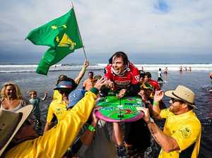 Barney wins adaptive surfing world title in Cali