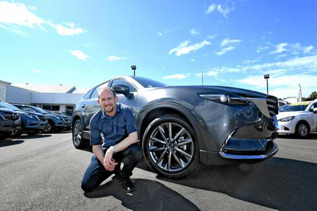 Scott Kovacevic test drives the Mazda CX9 in Gympie.