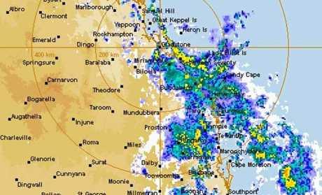 RAIN RADAR: BOM's rain radar show a heavy band of rain over the region.