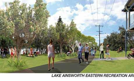 An artist's impression of proposed changes to the Lake Ainsworth precinct at Lennox Head.