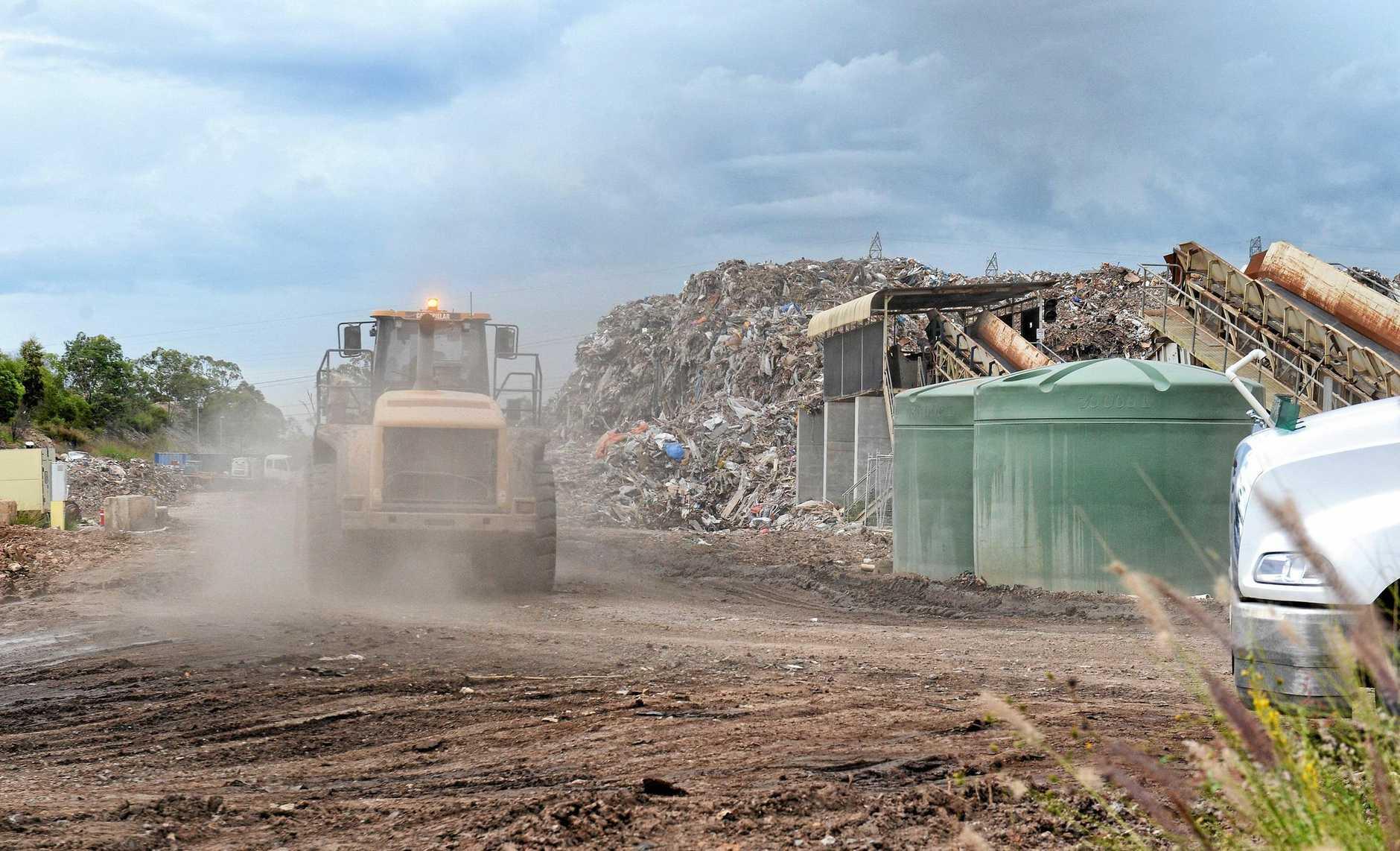Rubbish pile in Blackstone.