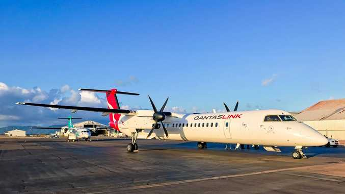 SECURITY SCREENING: QantasLink won't land Q400 aircraft until security screening installed.