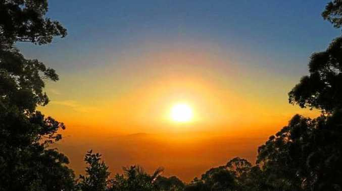 COMPLETE PACKAGE: This photo of a sunrise from the ranges summed up the tone of the story beautifully.