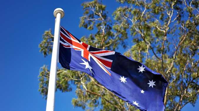 Australian flag Photo Trevor Veale / The Coffs Coast Advocate
