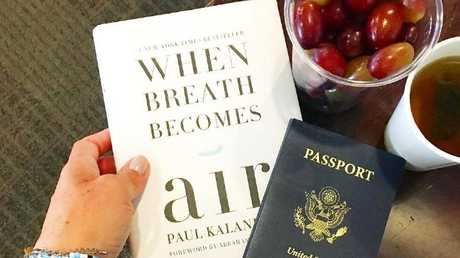 Markle revealed a few airport essentials in an Instagram picture posted in September 2016: tea, grapes, and a copy of late neurosurgeon Paul Kalanithi's autobiography When Breath Becomes Air