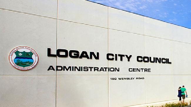 Logan City Council Chambers where a warrant was served today.