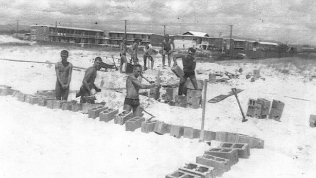 Kurrawa Surf Life Saving club foundations being laid October 27, 1963