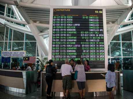 Passengers still stuck in Bali over the weekend. Picture: Juni Kriswanto