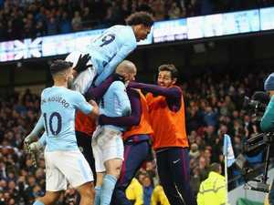 City's dramatic late show earns record PL win