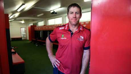 New Reds coach Brad Thorn poses for a photo at Ballymore.