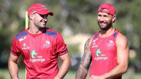 Nick Frisby and Quade Cooper are not in Reds coach Brad Thorn's plans.