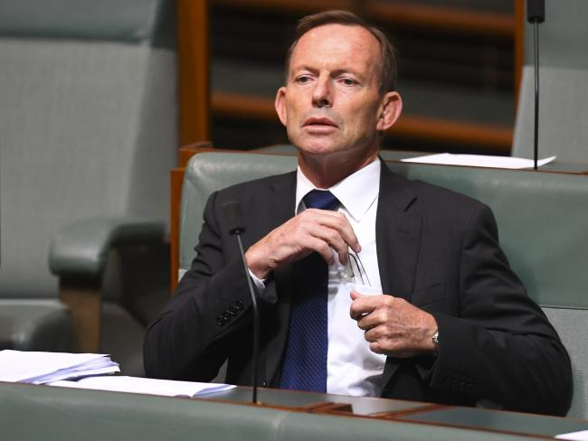 Former Australian Prime Minister Tony Abbott reacts during debate of the Marriage Amendment bill in the House of Representatives. Picture: AAP