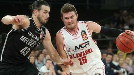 Rotnei Clarke had the hot hand for the Hawks, but CG43 played him closely after half time and negated his impact. Picture: AAP
