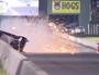 Drag racer walks away from 260kmh crash