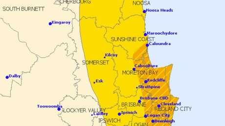 The Bureau of Meteorology has warned of another storm set to hit the south-east, with Caloundra in the area of greatest impact.