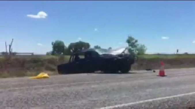 A 17-year-old boy has died and three others have been injured after a single-vehicle crash near Moranbah.