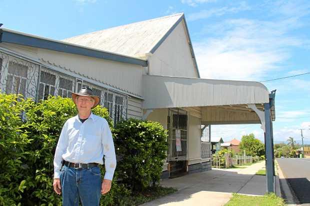 LOCAL LANDMARK: Craig Polkinghorne has spent a decade renovating the old Lowood creamery.