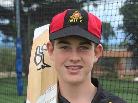 Flynn Thomasson scored his maiden century on the Rockhampton Grammar School's Sydney tour earlier this year.