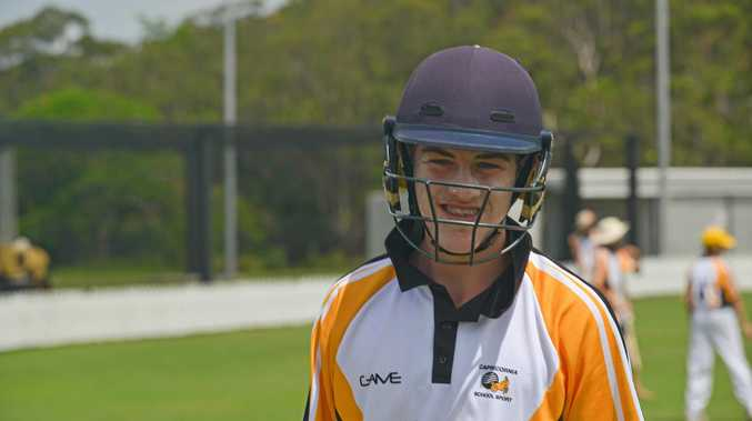 Flynn Thomasson has been named in his first Queensland cricket team after impressing at the state under-15 schoolboys titles.