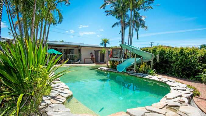 Picture summer beside the pool of this Boronia St home.