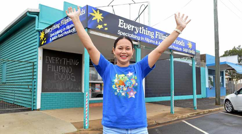 WE ARE OPEN: Nerissa Fish outside her newly opened Filipino Food store over East.