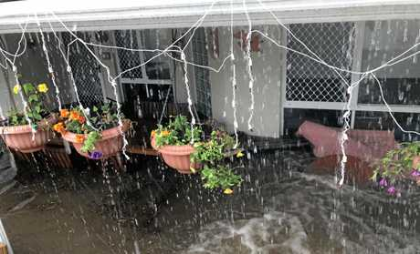 Careela Street Mooloolaba. The home of Eleanor Schulz was inundated with flood water.