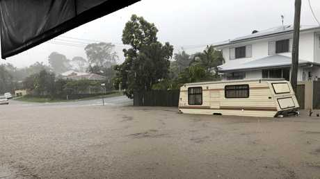 Careela Street Mooloolaba. The Velo Project was inundated with flood water.