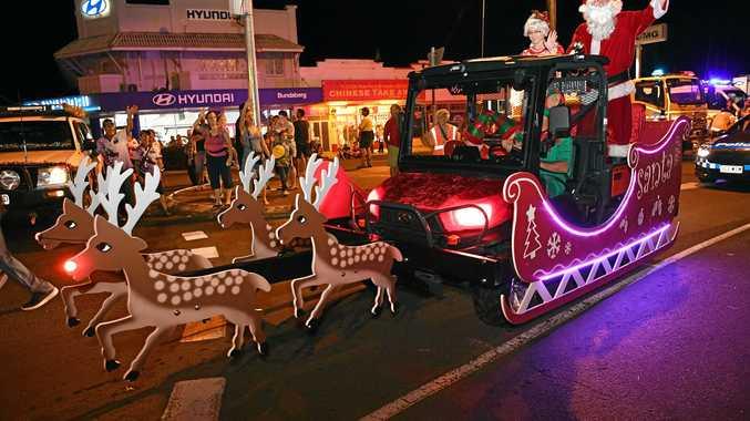 CHRISTMAS SPIRIT: Bundaberg Regional Council's 2016 Pageant of Lights in Bourbong Street.