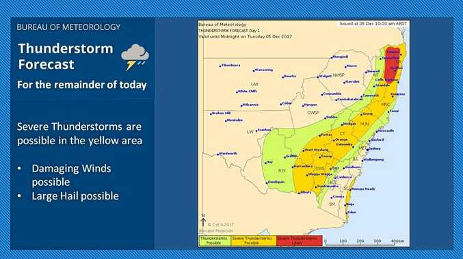 Severe storms likely this afternoon.