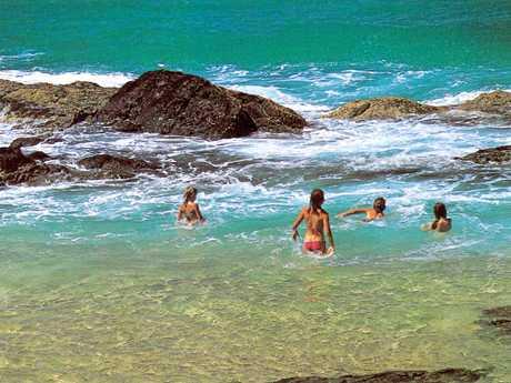 PAST & PRESENT: Champagne Rocks Fraser Island 1988.