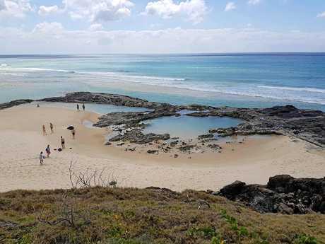 Champagne pools, Fraser Island.