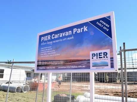 Pier Caravan Park construction site in Urangan.