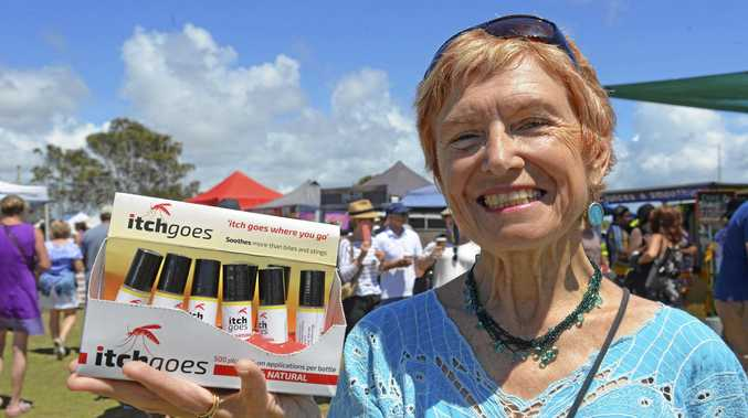 SCRATCH THAT ITCH: Founder of Itch Goes Ilma Hynson at the last Yamba Markets.
