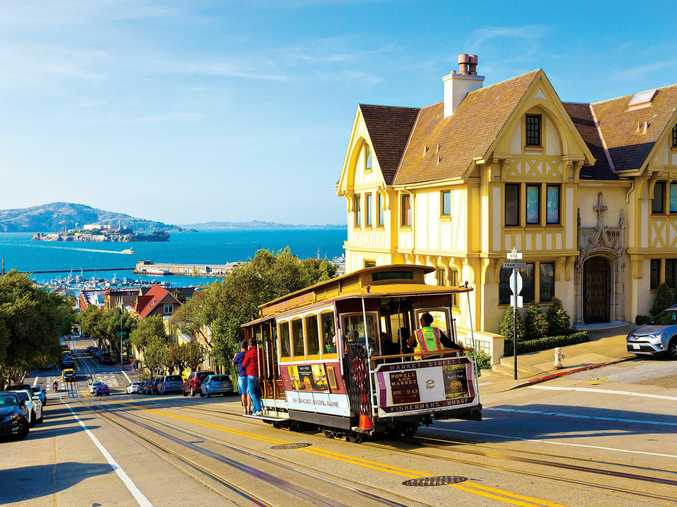 HOT SPOT: San Francisco, with its trams, hilly locale, Alcatraz (in the background) and Victorian houses, is one of the most-visited cities in the world.