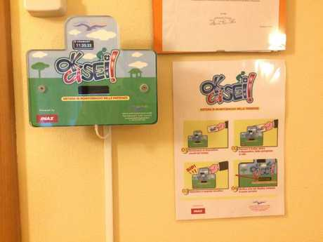 This is the device set up in an Italian daycare centre