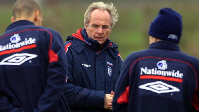 Sven Goran Eriksson coached England at two World Cups. Picture: Getty Images