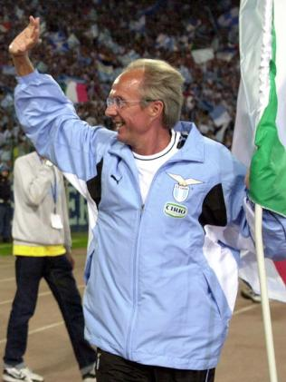 Eriksson won the Serie A with Lazio.