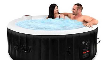 And even an inflatable hot tub.