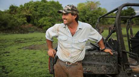 Crocodile relocator Matt Wright in a scene from season three of Outback Wrangler.