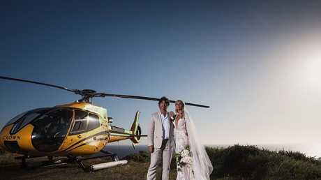 Matt Wright and wife Kaia Hammond.